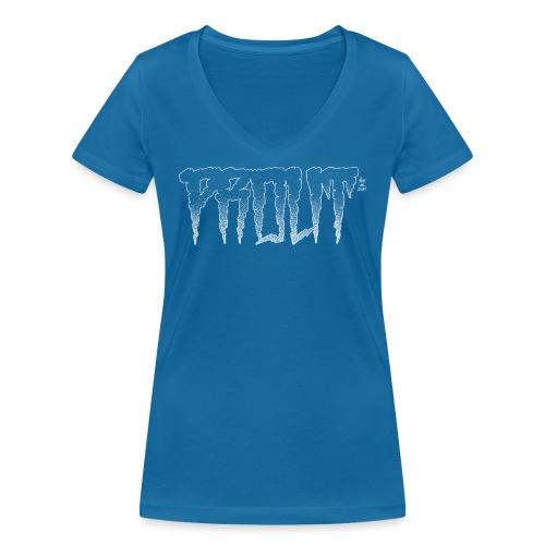 Horror PROUT - white - Women's Organic V-Neck T-Shirt by Stanley & Stella