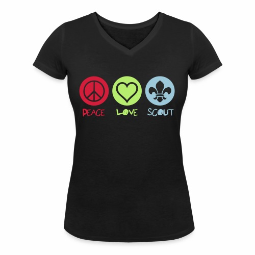 Peace Love Scout - T-shirt bio col V Stanley & Stella Femme