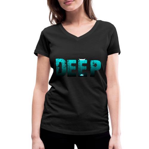 Deep In the Night - T-shirt ecologica da donna con scollo a V di Stanley & Stella