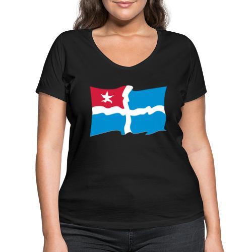 kreta - Frauen Bio-T-Shirt mit V-Ausschnitt von Stanley & Stella