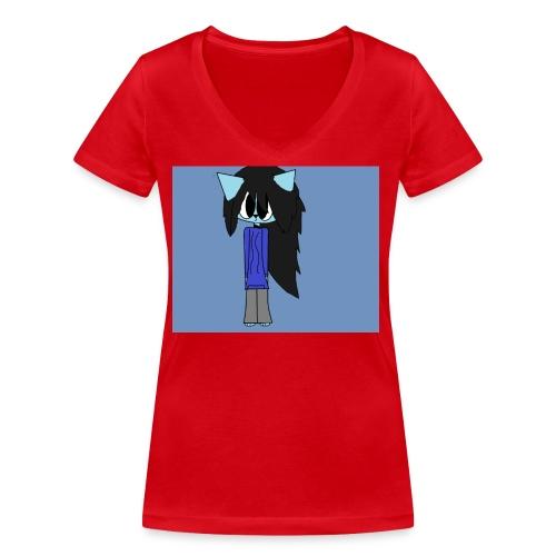my cartoon self - Women's Organic V-Neck T-Shirt by Stanley & Stella