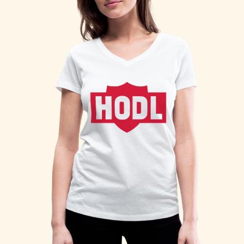 HODL TO THE MOON - Stanley & Stellan naisten v-aukkoinen luomu-T-paita
