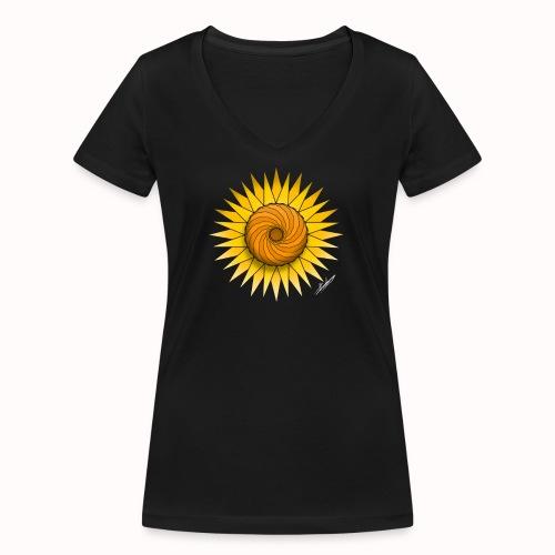 Sunflower - Women's Organic V-Neck T-Shirt by Stanley & Stella