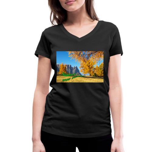 Südtirol - was sonst? - Frauen Bio-T-Shirt mit V-Ausschnitt von Stanley & Stella
