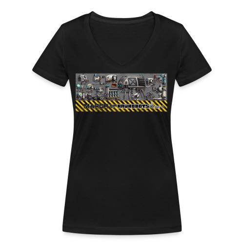 #MarchOfRobots ! LineUp Nr 1 - Økologisk Stanley & Stella T-shirt med V-udskæring til damer