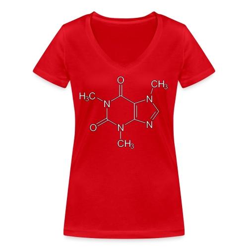 Koffein.png - Frauen Bio-T-Shirt mit V-Ausschnitt von Stanley & Stella