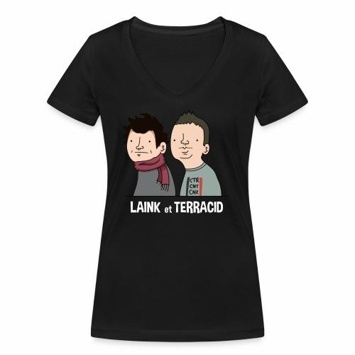 Laink et Terracid - T-shirt bio col V Stanley & Stella Femme