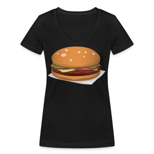 hamburger-576419 - T-shirt ecologica da donna con scollo a V di Stanley & Stella
