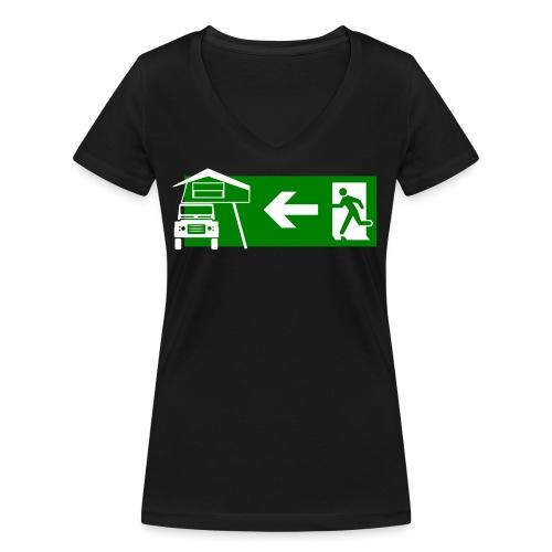 Dachzelt Exit - Frauen Bio-T-Shirt mit V-Ausschnitt von Stanley & Stella