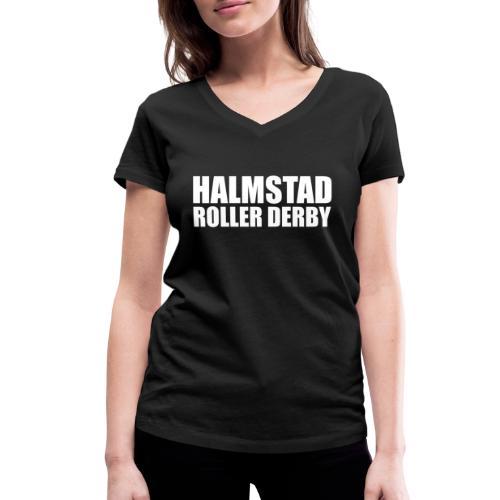 textlogga vit - Ekologisk T-shirt med V-ringning dam från Stanley & Stella