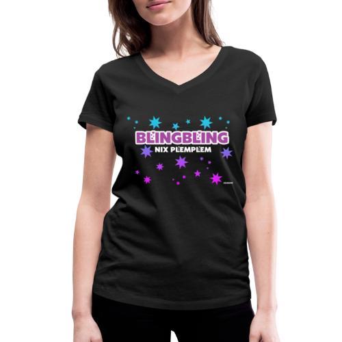 blingbling nixplemplem - Frauen Bio-T-Shirt mit V-Ausschnitt von Stanley & Stella