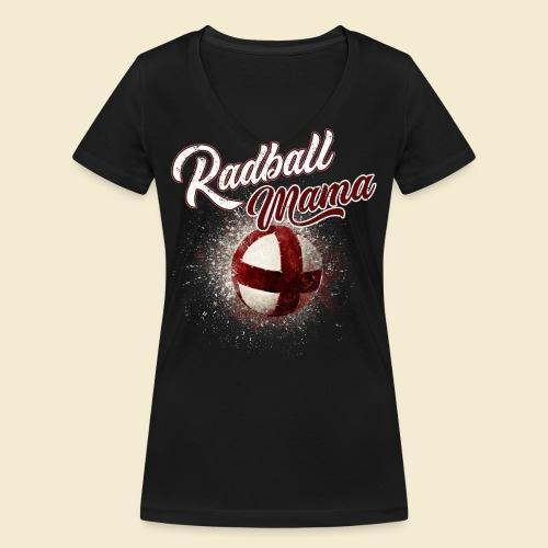 Radball Mama - Frauen Bio-T-Shirt mit V-Ausschnitt von Stanley & Stella