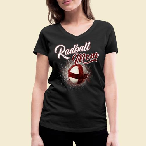 Radball Mom - Frauen Bio-T-Shirt mit V-Ausschnitt von Stanley & Stella