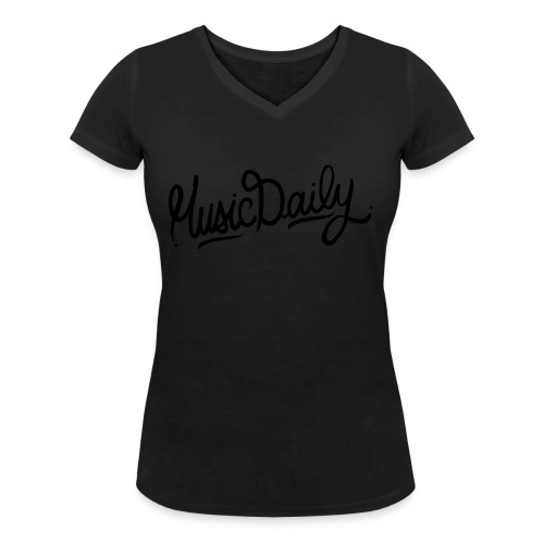 MusicDaily Logo - Vrouwen bio T-shirt met V-hals van Stanley & Stella