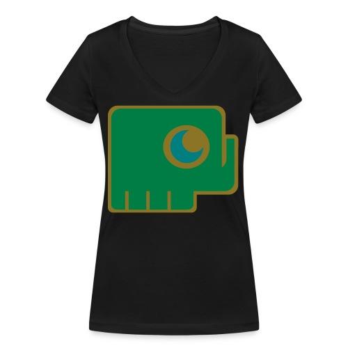 Elefant - Women's Organic V-Neck T-Shirt by Stanley & Stella