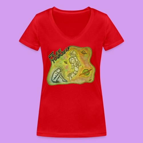 Katt Willow - Women's Organic V-Neck T-Shirt by Stanley & Stella