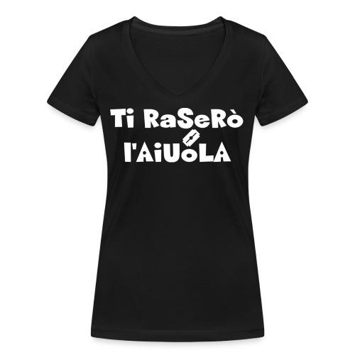 Ti raserò l'aiuola - T-shirt ecologica da donna con scollo a V di Stanley & Stella
