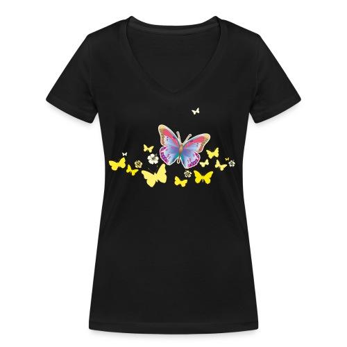 Schmetterlinge Falter Insekten Frühling Sommer - Women's Organic V-Neck T-Shirt by Stanley & Stella