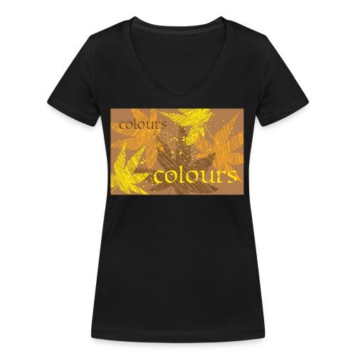 autumn theme - Ekologiczna koszulka damska z dekoltem w serek Stanley & Stella