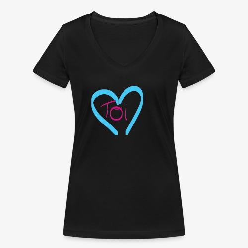 Mon cœur c'est Toi - T-shirt bio col V Stanley & Stella Femme
