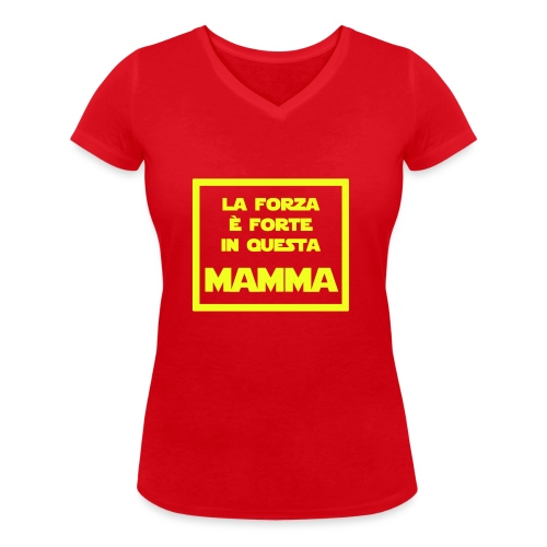 Mamma - La versione Jedi della mamma - T-shirt ecologica da donna con scollo a V di Stanley & Stella