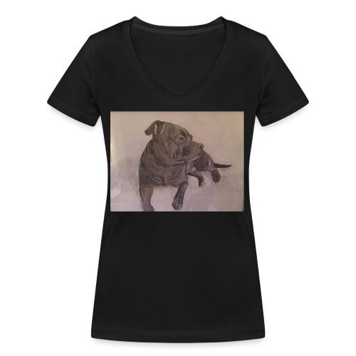My dog - Ekologisk T-shirt med V-ringning dam från Stanley & Stella