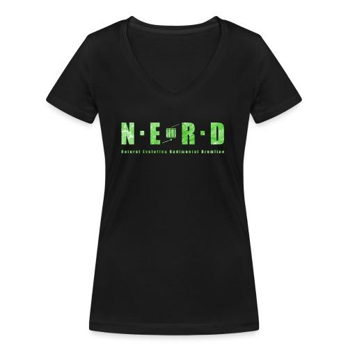 NERD Green - Økologisk Stanley & Stella T-shirt med V-udskæring til damer