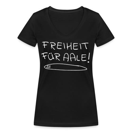 Freiheit für Aale - Urlaub an der Ostsee - Frauen Bio-T-Shirt mit V-Ausschnitt von Stanley & Stella
