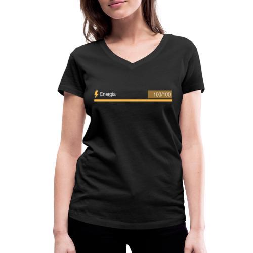 Energía 100% - Camiseta ecológica mujer con cuello de pico de Stanley & Stella
