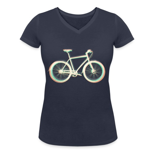 Fahrrad Bike Outdoor Fun Radsport Radtour Freiheit - Women's Organic V-Neck T-Shirt by Stanley & Stella