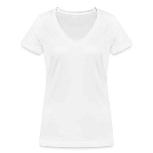 Donerry Elegance NEW White on Dark - Women's Organic V-Neck T-Shirt by Stanley & Stella