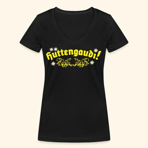 Hüttengaudi, Edelweiss, Girlie - Frauen Bio-T-Shirt mit V-Ausschnitt von Stanley & Stella