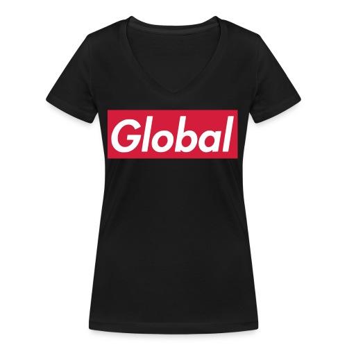 Global - Frauen Bio-T-Shirt mit V-Ausschnitt von Stanley & Stella