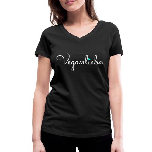 Veganliebe Logo Schriftzug für Veganer - Frauen Bio-T-Shirt mit V-Ausschnitt von Stanley & Stella