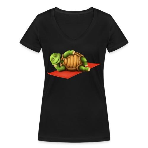Yoga Vishnu Turtle - Frauen Bio-T-Shirt mit V-Ausschnitt von Stanley & Stella