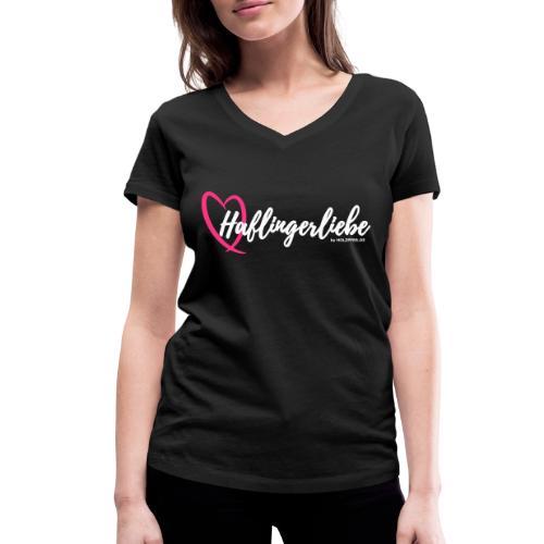 Haflingerliebe - Frauen Bio-T-Shirt mit V-Ausschnitt von Stanley & Stella