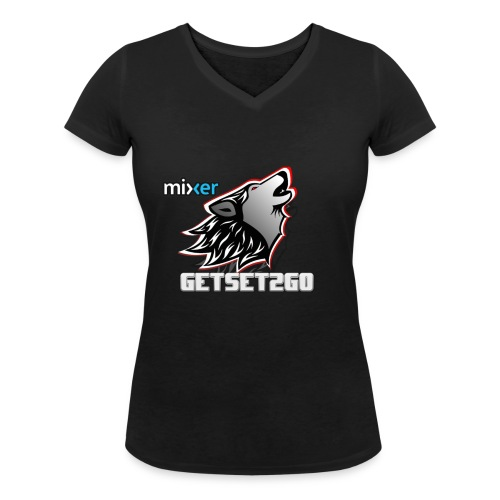 Mixer Logo - Women's Organic V-Neck T-Shirt by Stanley & Stella