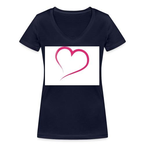 Hart - Vrouwen bio T-shirt met V-hals van Stanley & Stella