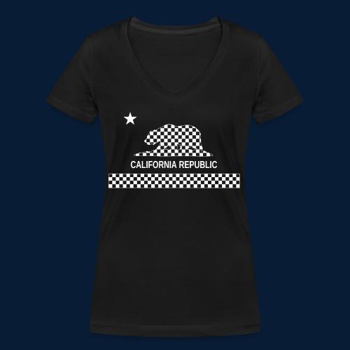 California Republic - Frauen Bio-T-Shirt mit V-Ausschnitt von Stanley & Stella