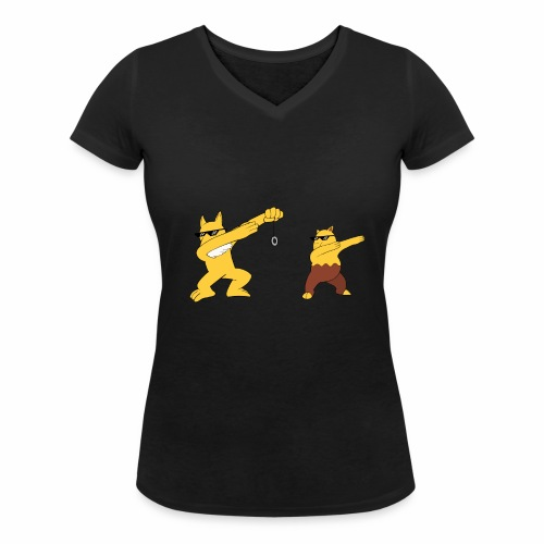 Saffron city gym - Women's Organic V-Neck T-Shirt by Stanley & Stella