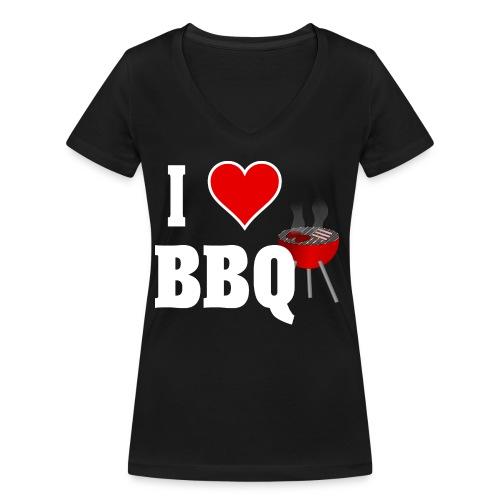 BBQ Barbecue - Frauen Bio-T-Shirt mit V-Ausschnitt von Stanley & Stella