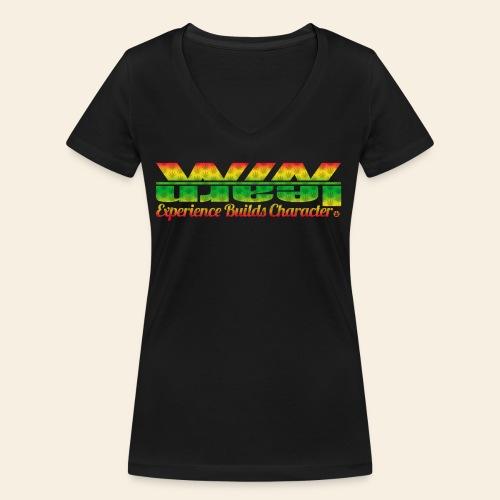 The Weed Logo Tee - Vrouwen bio T-shirt met V-hals van Stanley & Stella
