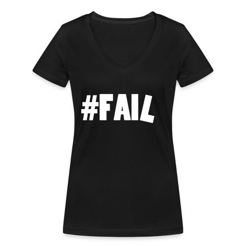 FAIL / White - T-shirt bio col V Stanley & Stella Femme