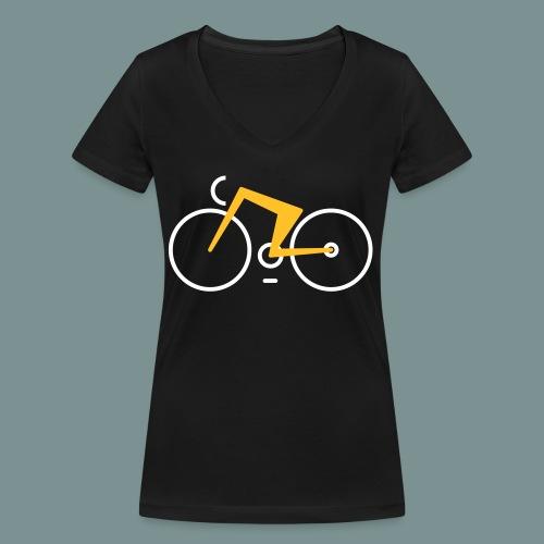 Bikes against cancer - Økologisk Stanley & Stella T-shirt med V-udskæring til damer