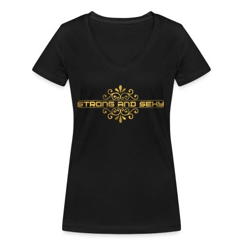 S.A.S. Cap - Vrouwen bio T-shirt met V-hals van Stanley & Stella