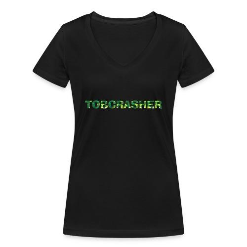Tshirt Green triangles big - Frauen Bio-T-Shirt mit V-Ausschnitt von Stanley & Stella
