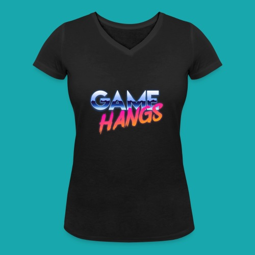 GameHangs Snapback - Women's Organic V-Neck T-Shirt by Stanley & Stella