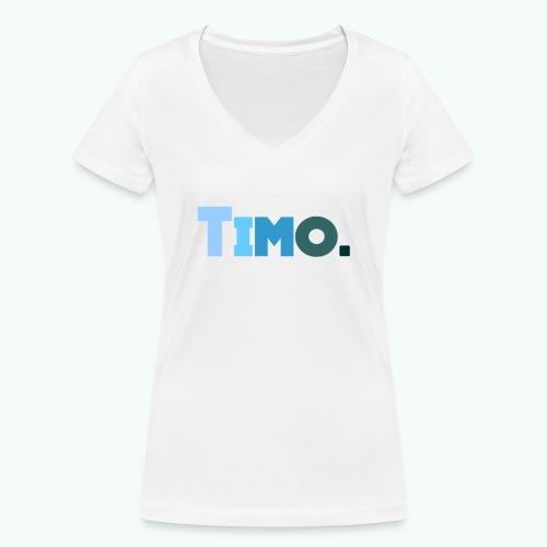 Timo in blauwe tinten - Vrouwen bio T-shirt met V-hals van Stanley & Stella