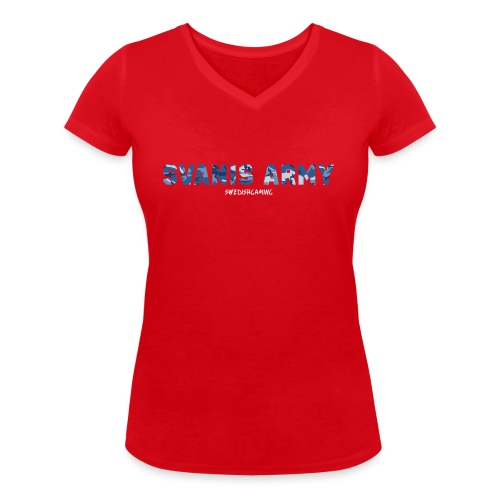 SVANIS ARMY, SWEDISHGAMING - Ekologisk T-shirt med V-ringning dam från Stanley & Stella