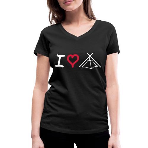 I love Kothe - Frauen Bio-T-Shirt mit V-Ausschnitt von Stanley & Stella